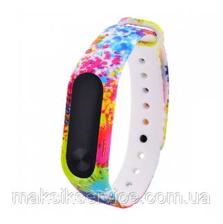 Ремешок Silicone with Print for Mi Band 4 colourful