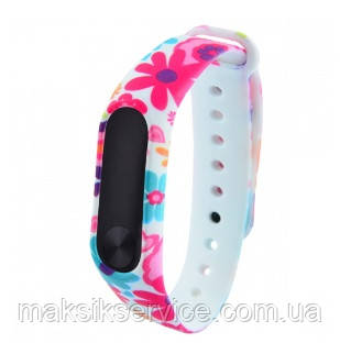 Ремешок Silicone with Print for Mi Band 3 flowers