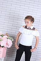 Школьная блузка для девочек от 134 до 164 см рост