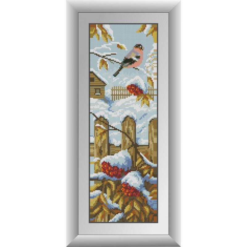 Алмазная живопись Зимний щебет Dream Art 30844 (16 x 47 см)