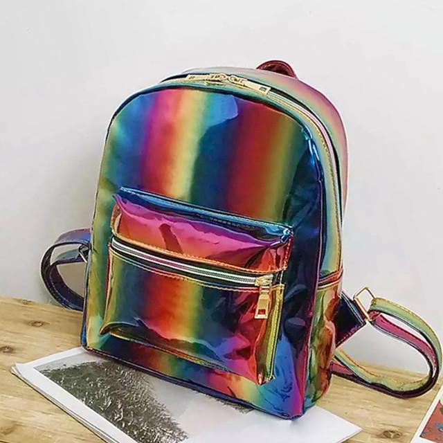 Радужный рюкзак блестящий