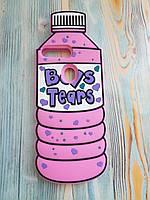 Резиновый объемный 3D чехол для Huawei Y9 2018 Бутылка розовая