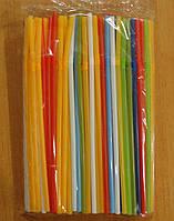 Трубочки для напитков цветные 200шт/уп