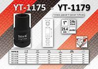 "Головка ударная 6-гранная глубокая 1"" x 27мм, YATO YT-1175"