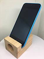 Підставка EcoLife під телефон iPhone з натуральної деревини. Дика Вишня - Музична скринька.