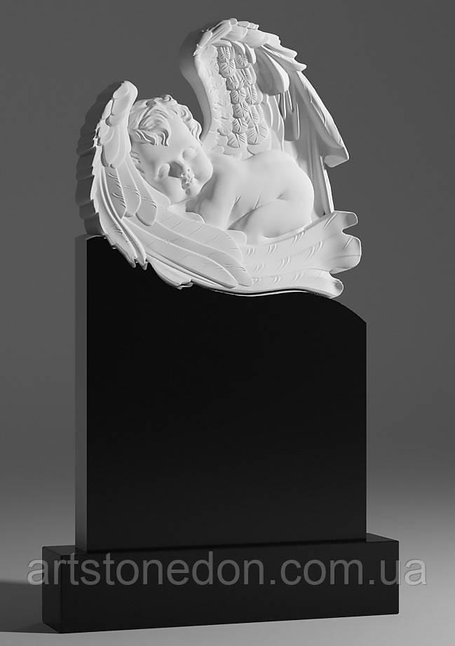Дитячі пам'ятники ангели. Гарний дитячий пам'ятник з ангелом №22