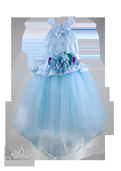 Пышное платье с цветком для девочки