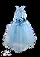 Пышное платье с цветком для девочки, фото 1
