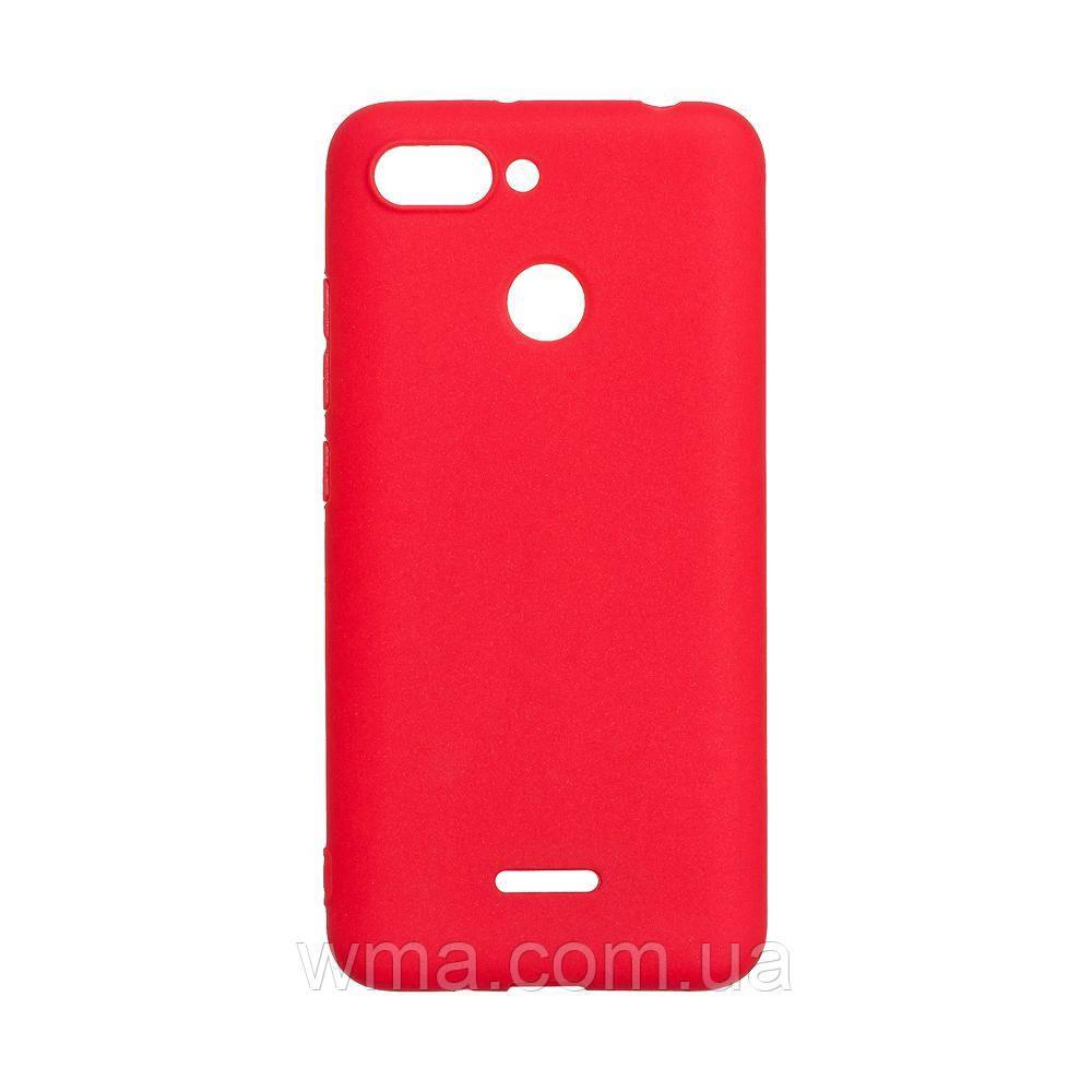 Силикон SMTT Xiaomi Redmi 6 Цвет Красный