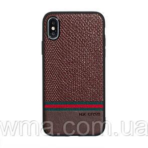 Чехол для телефонов (Смартвонов) Задняя Накладка Оригинал NX Mingshi for Apple Iphone Xs Max Цвет Коричневый