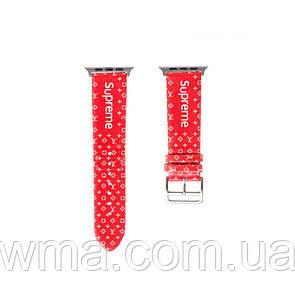 Ремешок для часов Apple Watch Band LV Supreme 42 / 44mm Цвет Красный