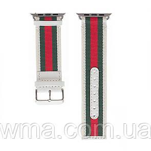 Ремешок для часов Apple Watch Gucci Design 42 / 44mm Цвет Бело-Красный