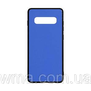 Чехол для телефонов (Смартвонов) Силикон Case Original Glass for Samsung S10 Plus Цвет Синий