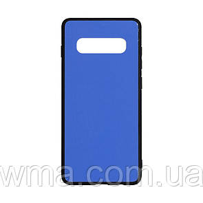 Силикон Case Original Glass for Samsung S10 Plus Цвет Синий