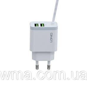 Сетевое Зарядное Устройство LDNIO A321 Micro Цвет Белый