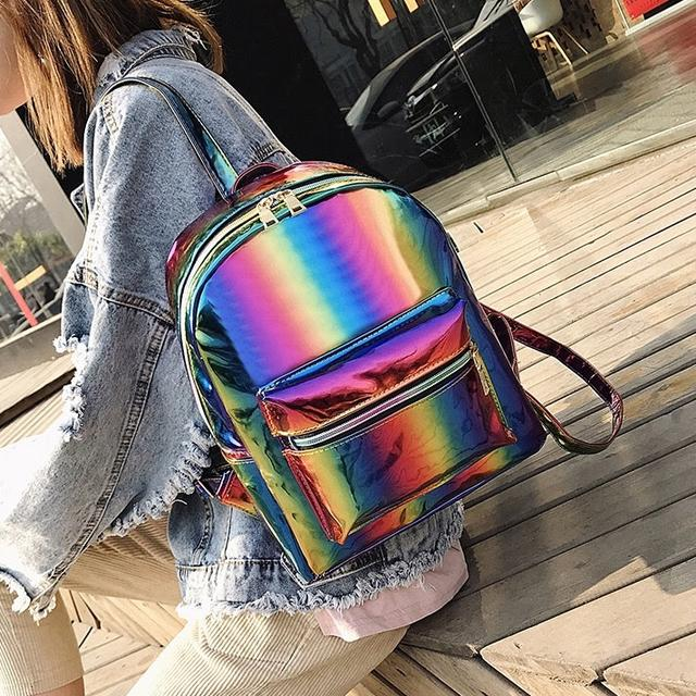 Радужный рюкзак галограмный