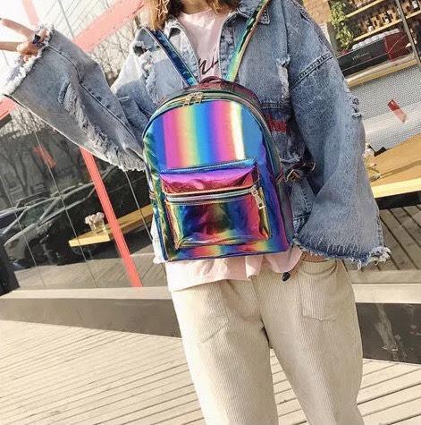Радужный рюкзак подростковый