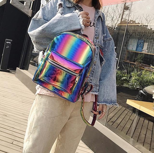 Радужный рюкзак стильный