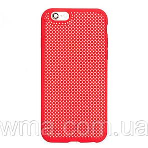 Чехол для телефонов (Смартвонов) Силикон Grid for Apple Iphone 6G Цвет Красный