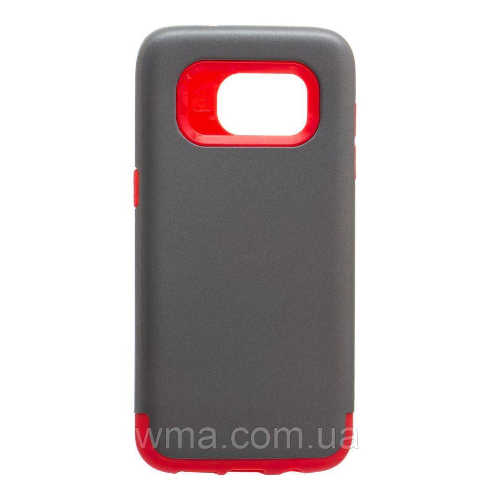 Чехол для телефонов (Смартвонов) Задняя Накладка Motomo X1 For Samsung S7 Edge Цвет Серо-Красный