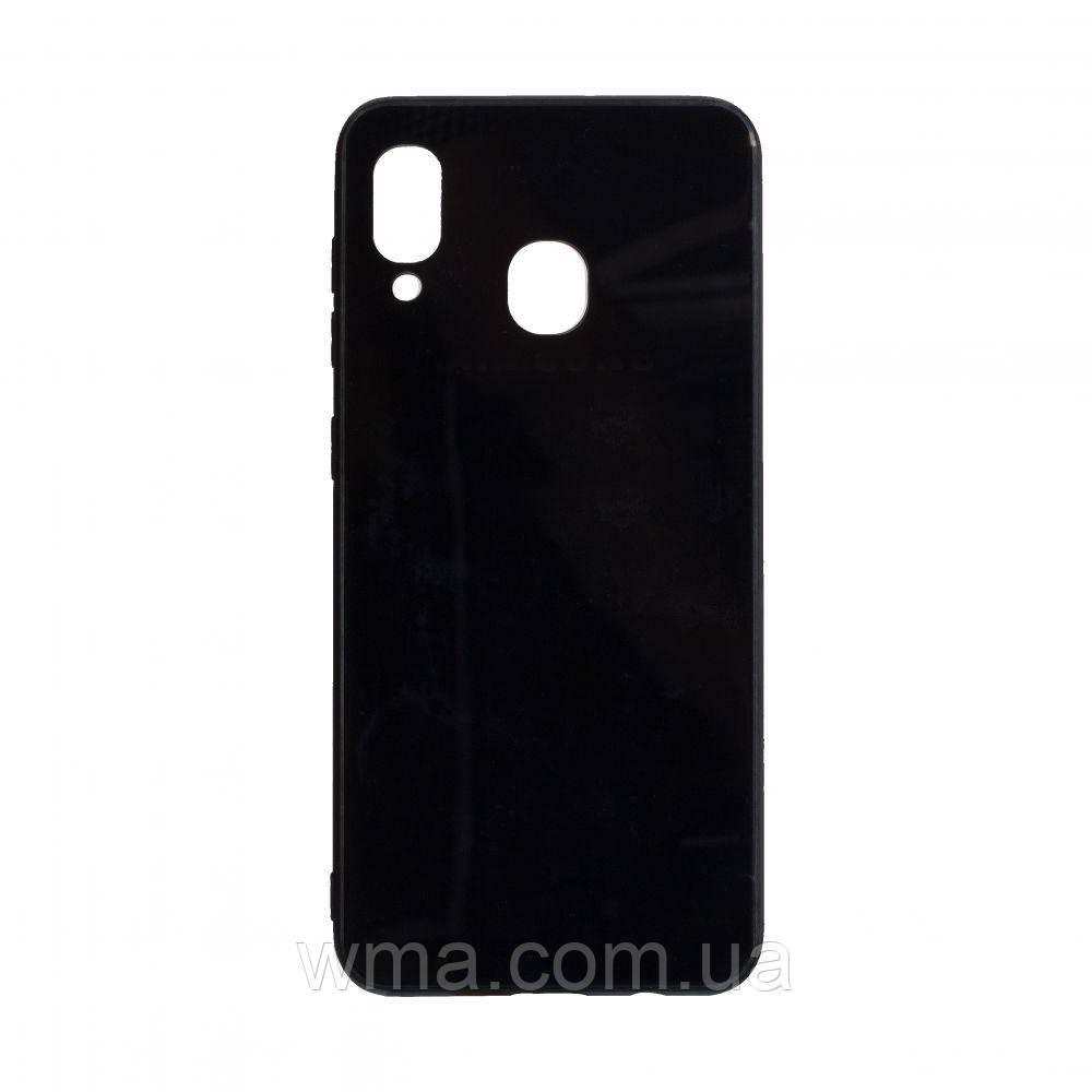Силикон Case Original Glass for Samsung A30 / A20 Цвет Чёрный