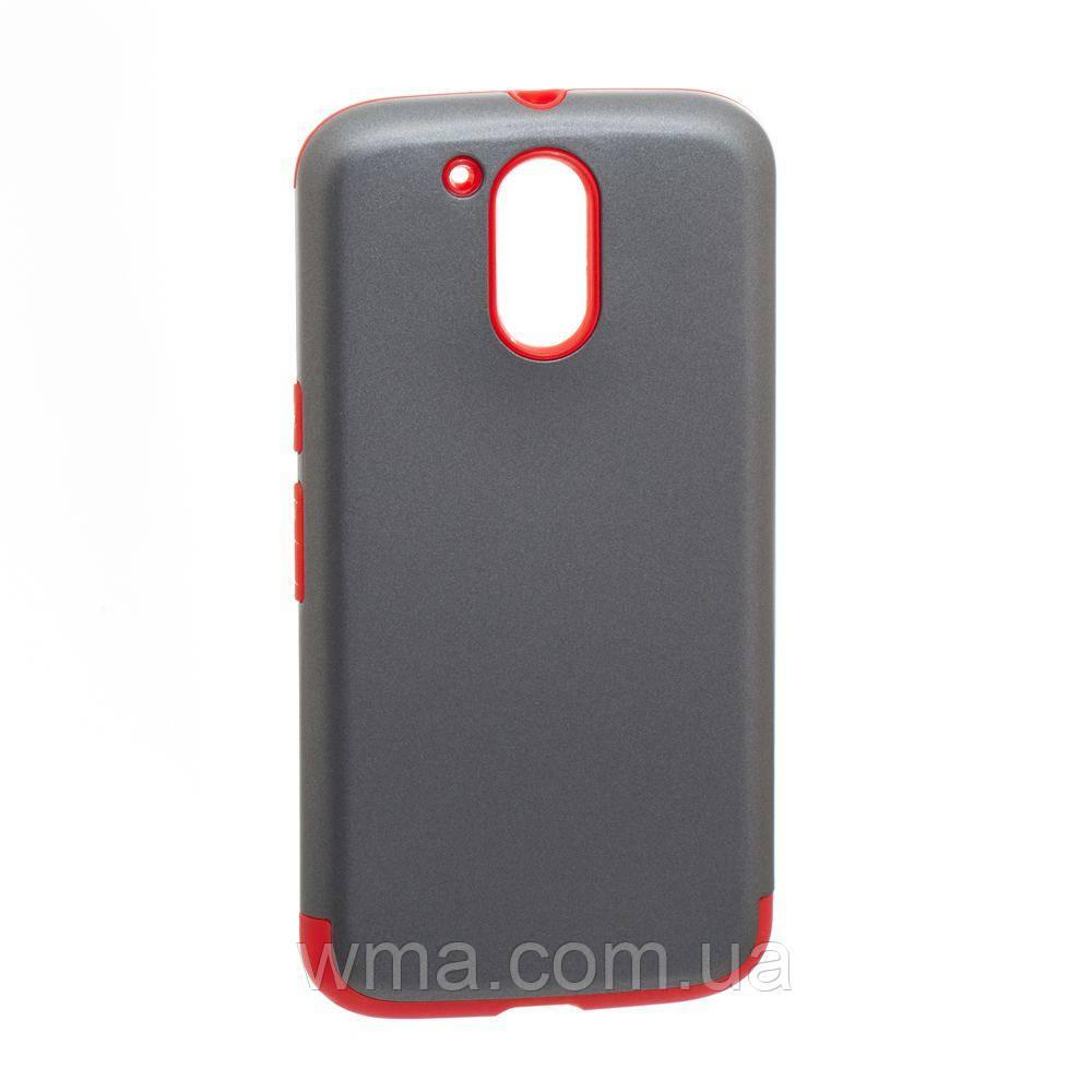 Задняя Накладка Motomo X1 For LG Moto G4 Plus Цвет Красно-Серый