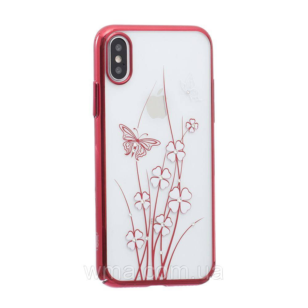 Силикон Simple Beauty Shadow Love Series for Apple Iphone X Цвет 02, Красный