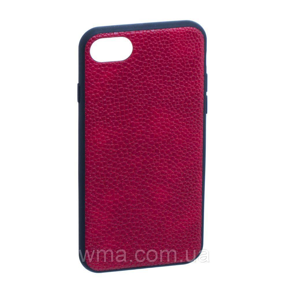 Чехол для телефонов (Смартвонов) Задняя Накладка Tkoj Leather for Apple Iphone 7G Цвет Красный