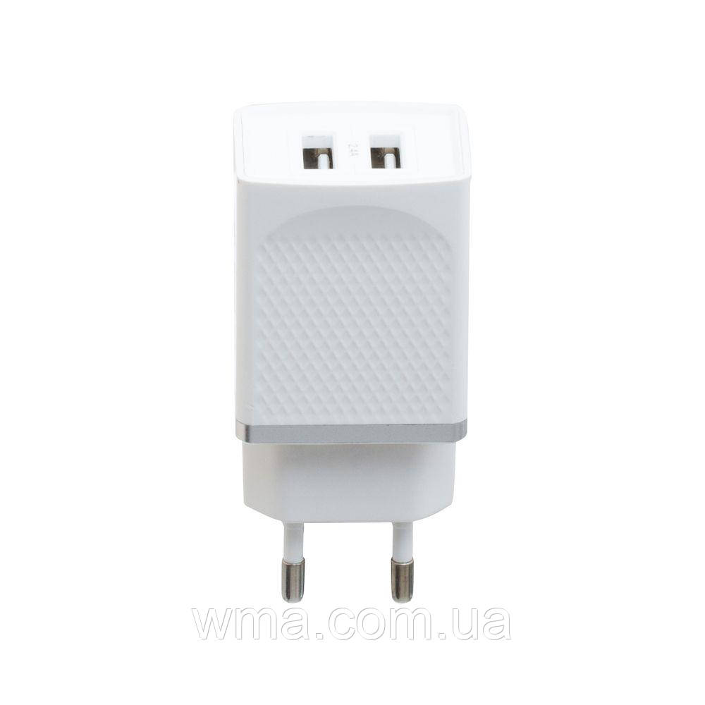 Сетевое зарядное устройство usb (Для телефонов и планшетов) Hoco C43A Vast Power 2 USB Цвет Белый