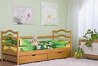 Детская кровать София 80х190 из дерева ольхи