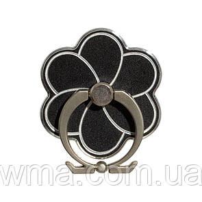Кольцо Подставка для Телефонов Metal Rose Цвет Чёрный