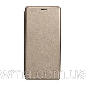 Чехол для телефонов (Смартвонов) Чехол-Книжка Оригинал Кожа Samsung J6 Plus 2018 Цвет Золотой