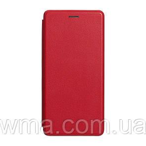Чехол для телефонов (Смартвонов) Чехол-Книжка Оригинал Кожа Samsung J6 Plus 2018 Цвет Красный
