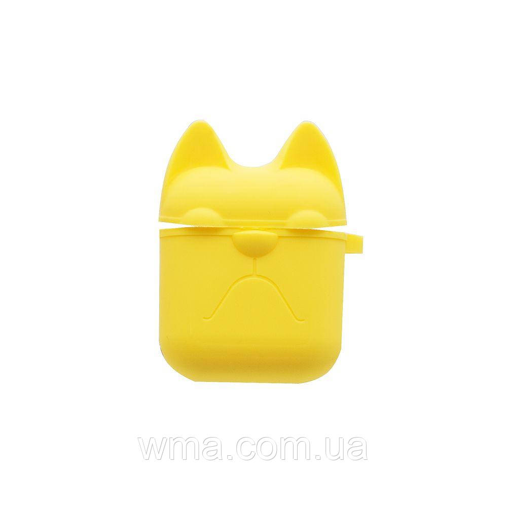 Футляр Для Наушников Airpod Dog Цвет Жёлтый