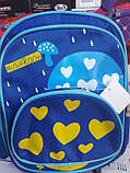 Детский рюкзак синий сердечки, фото 3