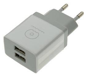 Сетевое зарядное устройство 2.1A WUW T23 2USB белый iPhone