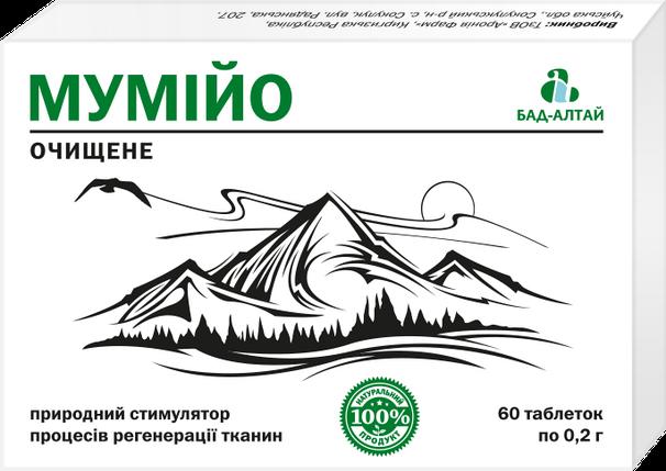 Мумие очищенное АРОНИЯ ФАРМ,0,2г таб № 60, фото 2