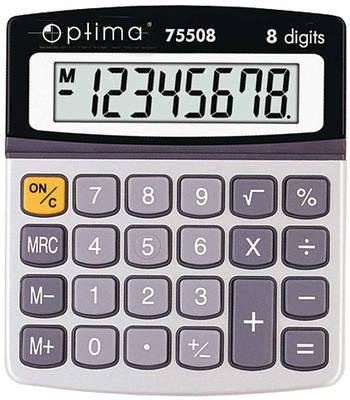 Калькулятор электронный, 8-разрядный, Optima