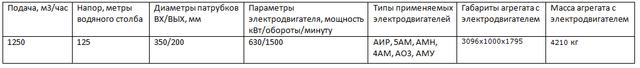 Д1250-125 насос