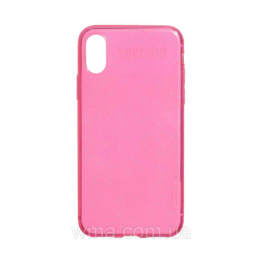 Чехол для телефонов (Смартвонов) Задняя Накладка X-Level Rainbow Shell for Apple Iphone Xs Max Цвет Розовый