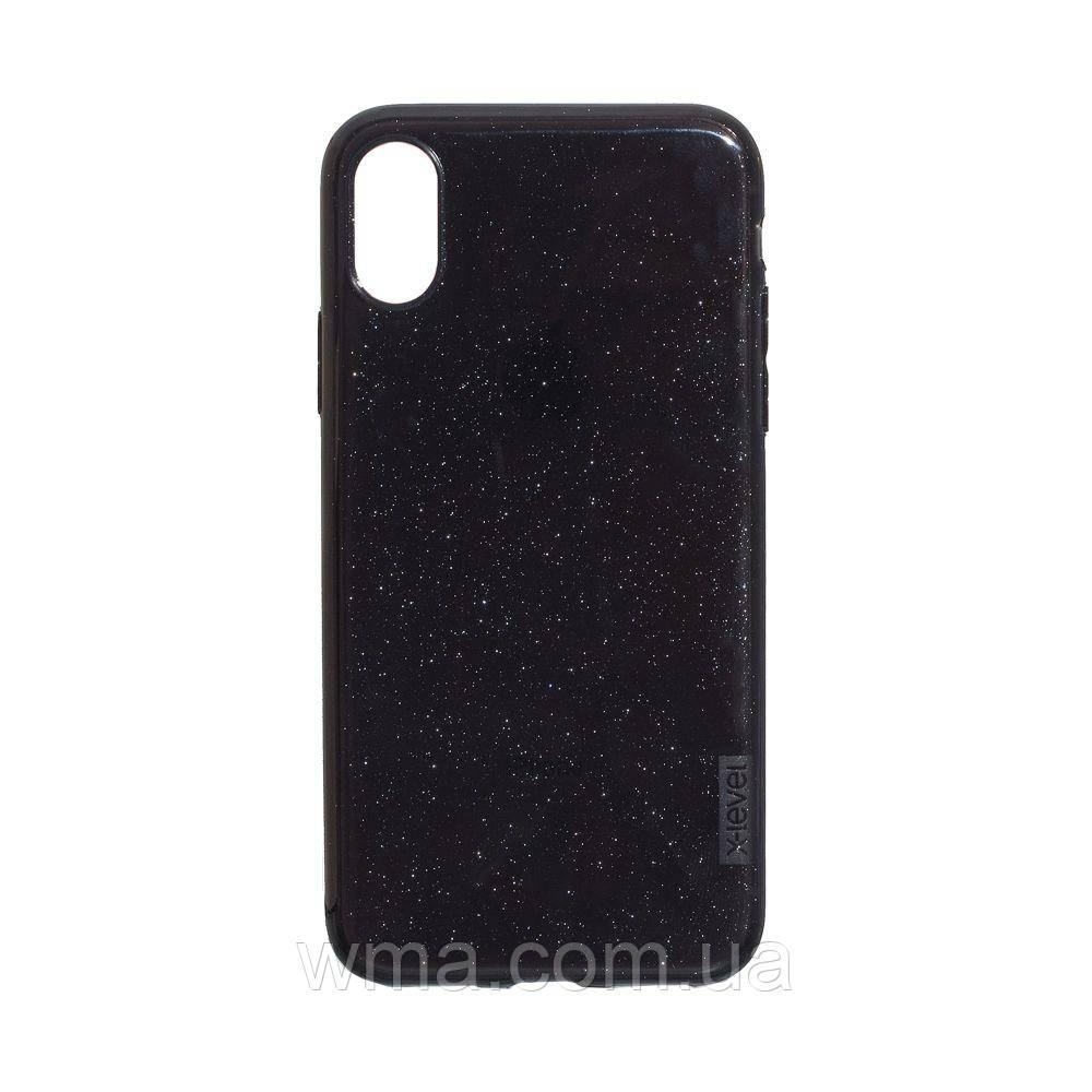 Чехол для телефонов (Смартвонов) Задняя Накладка X-Level Rainbow Shell for Apple Iphone Xs Max Цвет Чёрный