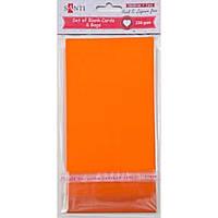 Набір помаранчевих заготовок для листівок, 10см*20см, 230г/м2, 5шт.. .Santi