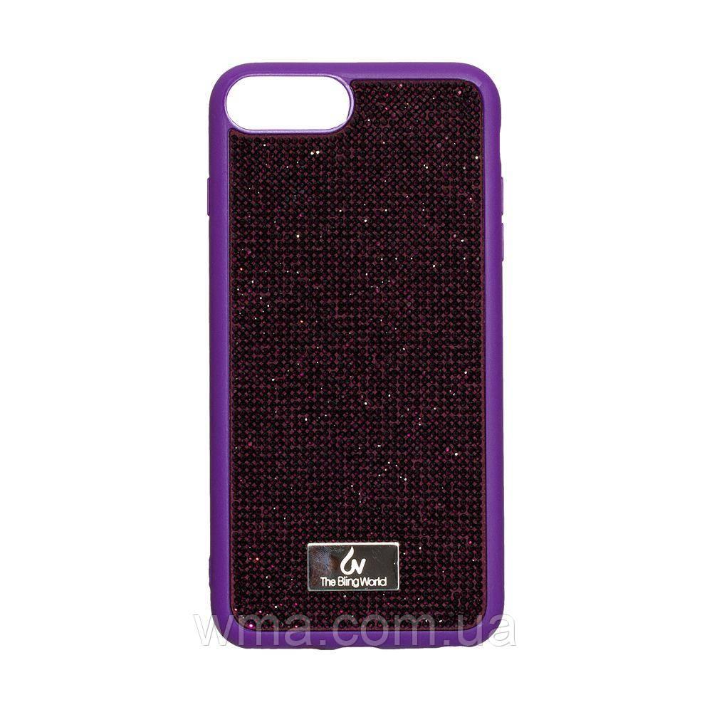 Чехол для телефонов (Смартвонов) Задняя Накладка Bling World TPU+LCPC for Apple Iphone 7/8 Plus Цвет Фиолетовый