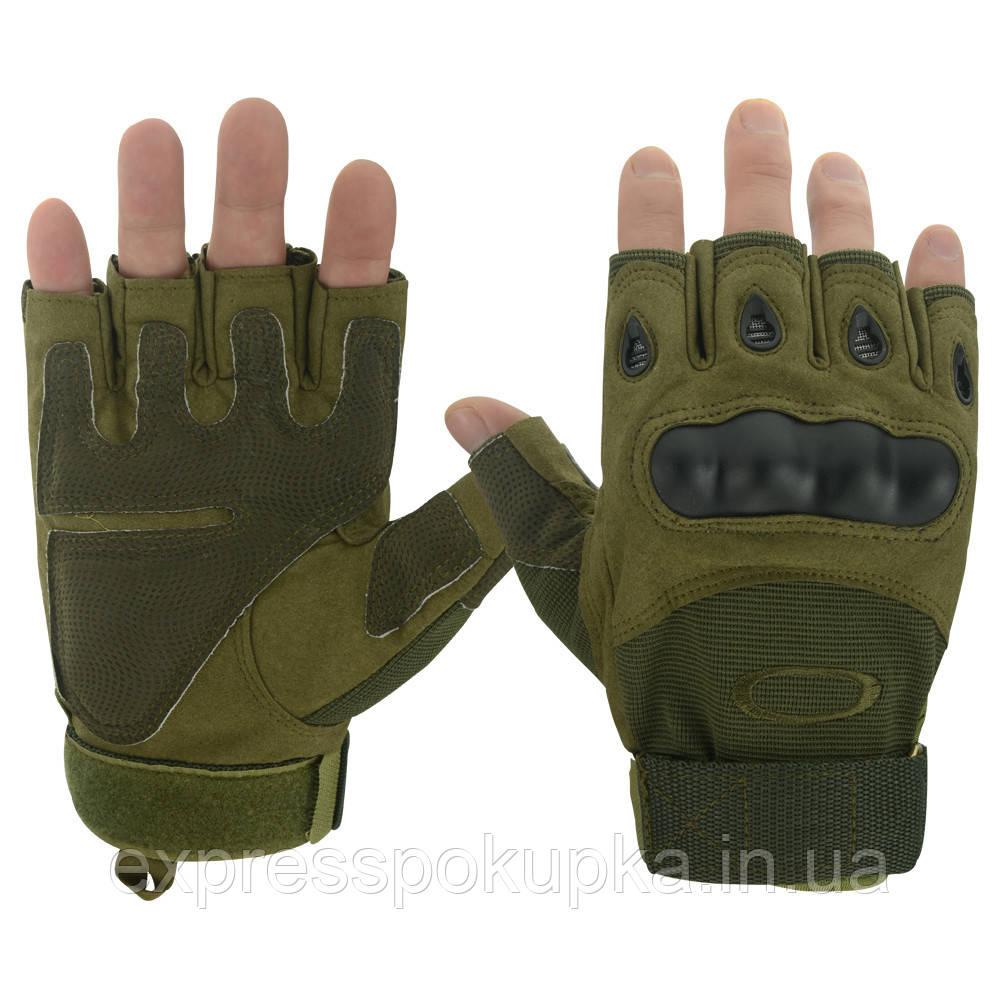 Перчатки тактические беспалые Oakley (Черные/Олива)