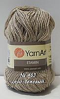 Нитки пряжа для вязания Etamine Этамин от YarnArt Ярнарт № 463 - серо-бежевый