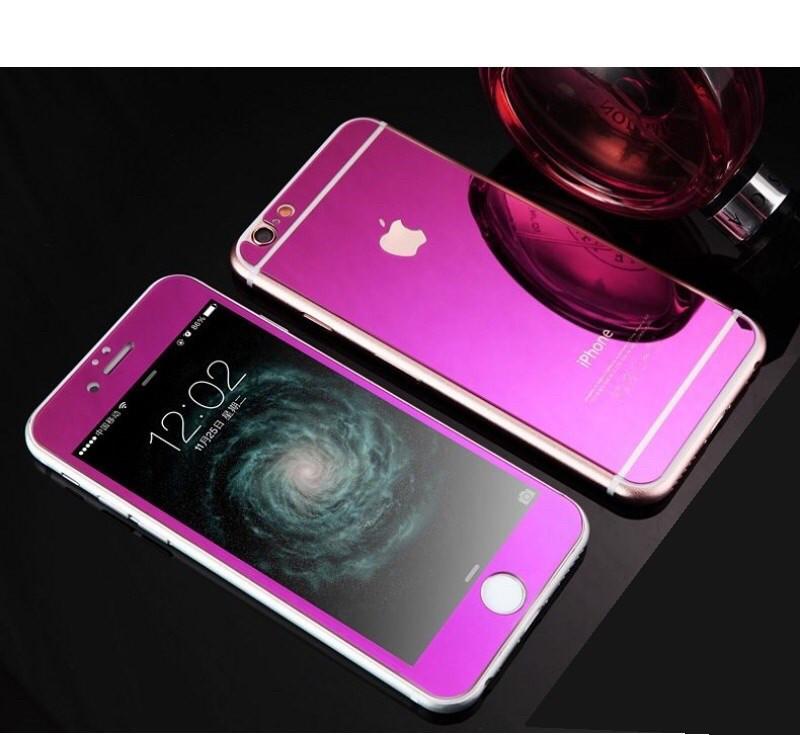Стекла противоударные для Iphone 5/5S/5SE зеркальные purple