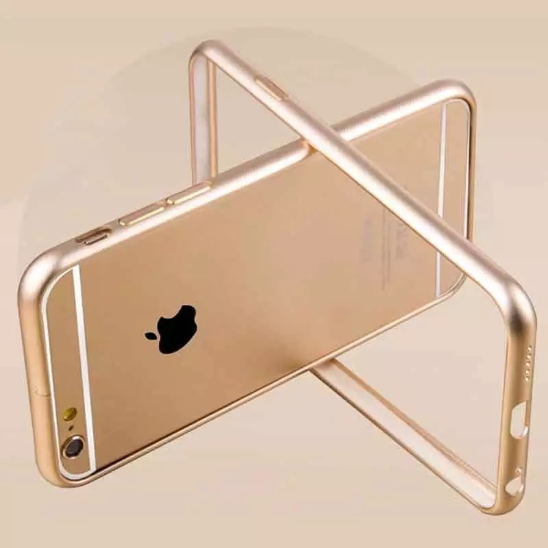 Бампер для IPhone 6plus/6s plus алюминиевый противоударный золотой