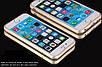 Бампер для IPhone 6plus/6s plus алюминиевый противоударный золотой, фото 3