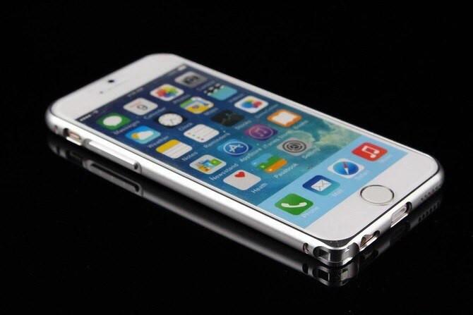 Бампер ультратонкий  для Iphone  6/6S Алюминиевый Silver