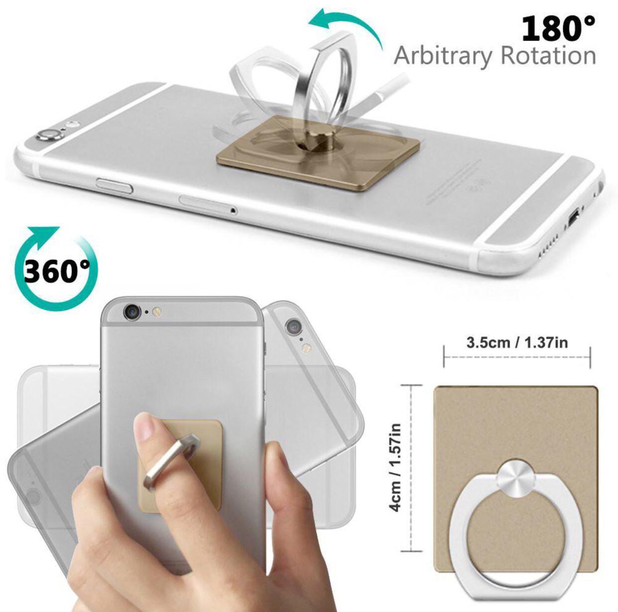 Кольцо-Подставка Iring для телефона и планшета + держатель в авто gold